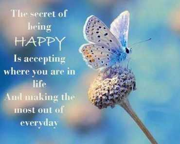 Happiness quotes about life The Secret of Being Happy Everyday