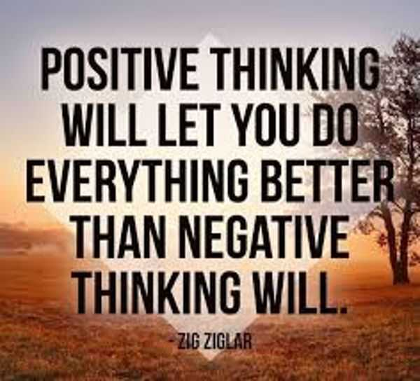 Image result for positive thinking will let you do everything better