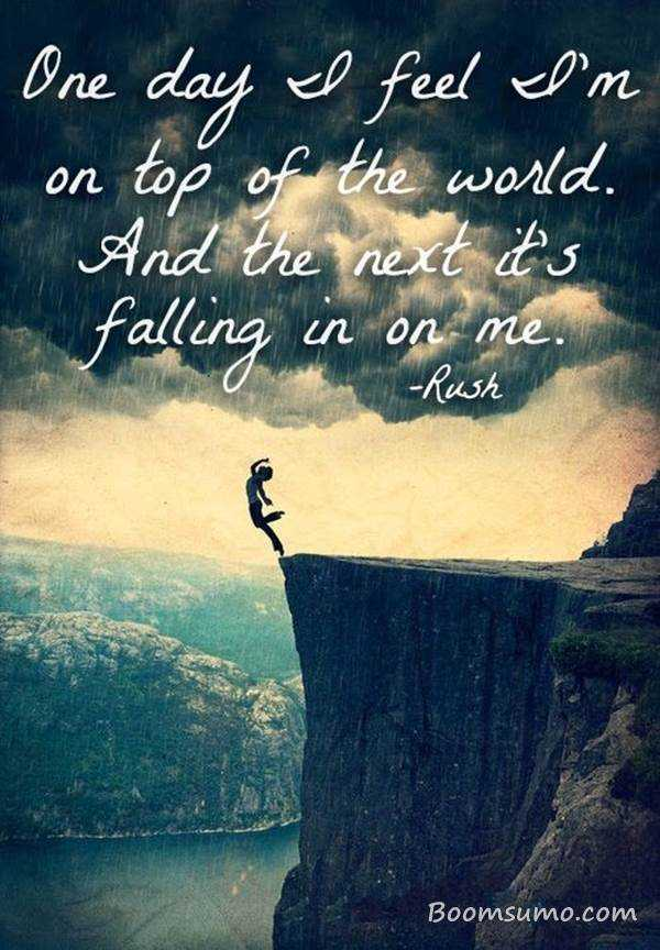 Bipolar Quotes One Day I Feel Top Of The World Next Day BoomSumo Fascinating Bipolar Quotes