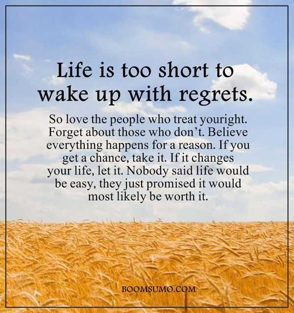 Inspirational Life Quotes: Life Is Too Short U0027Wake Up With Regrets, Believe  Everything
