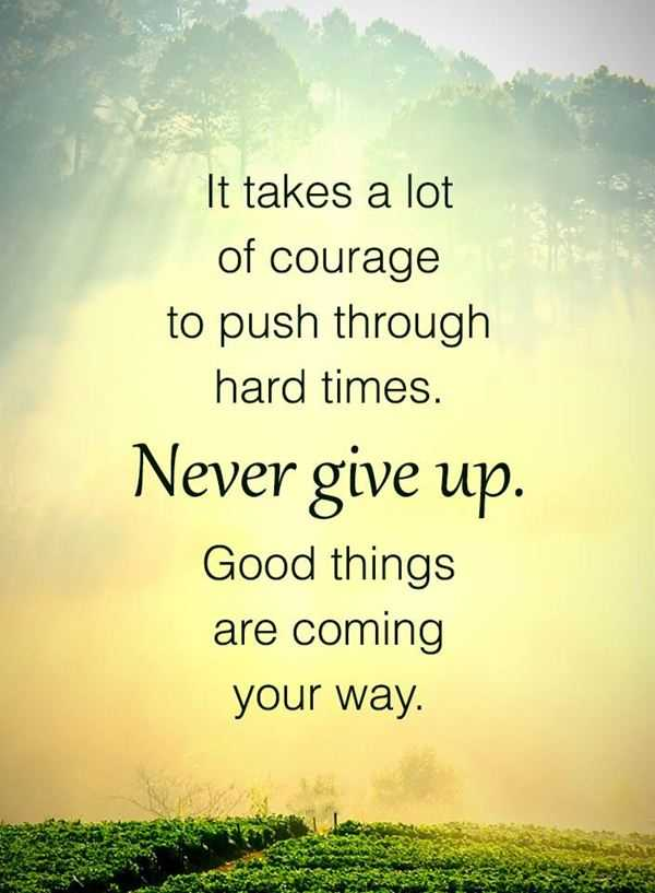 Never Give Up Good Morning