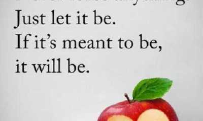 Positive Quotes About Life sayings Never Force Anything, Just Let it Be