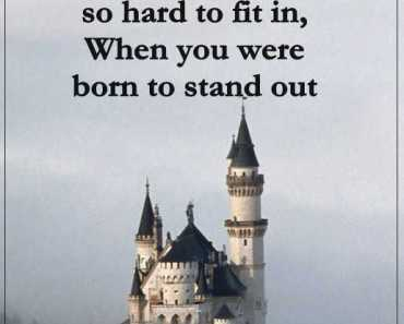 Positive thoughts Why are trying so hard Fit, We born to Stand out