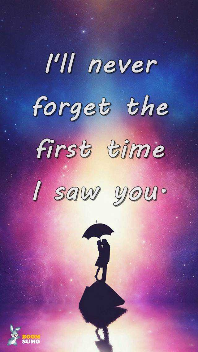 Best Love Quotes Never Forget The First Time I Saw You Boomsumo Quotes