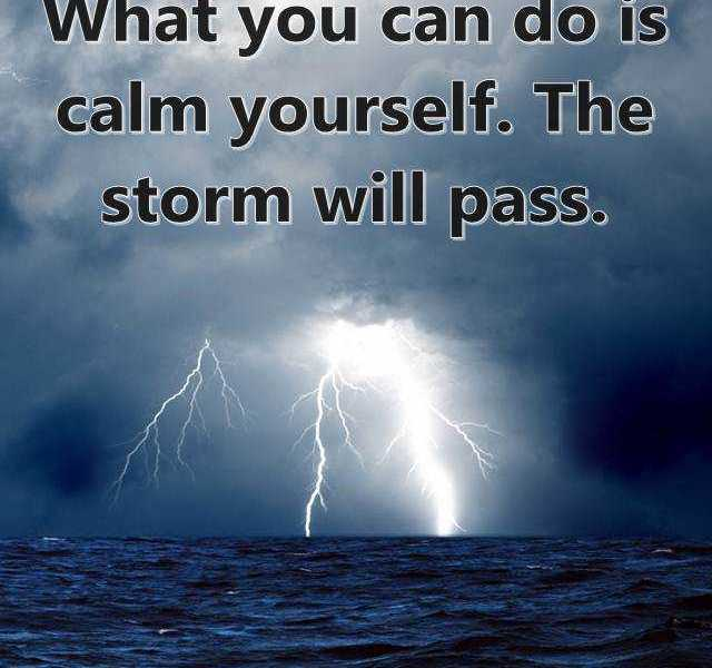 Best Life Quotes Positive Sayings You Cant Calm When Storm Calm