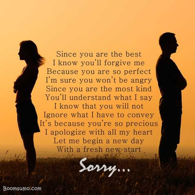 I Am Sorry Poems for Boyfriend: Apology Poems for Him from