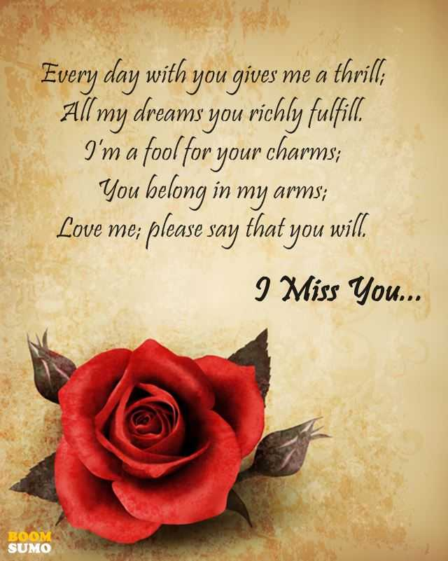 Love Poems For True Love I Miss You