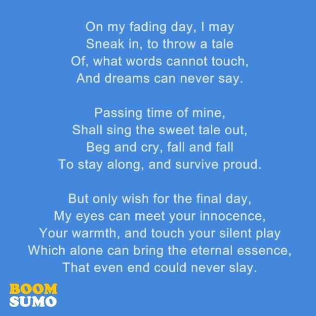 Short Sorry Poems