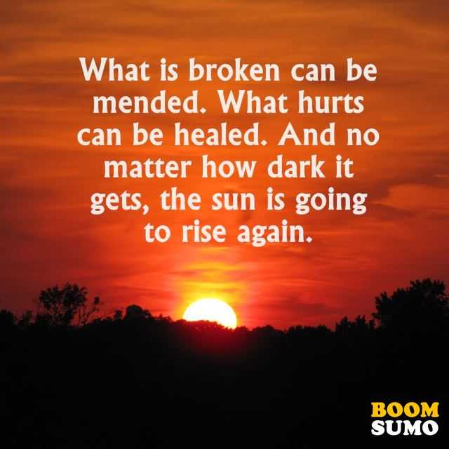 Positive Life Quotes How Dark It Gets, Rise Again
