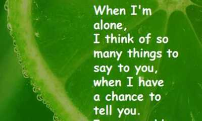 Best Love Quotes When I'm Alone, I Think of So Speechless