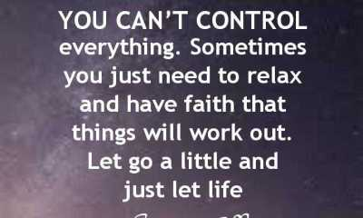 Inspirational Life Quotes You Can't Control Everything