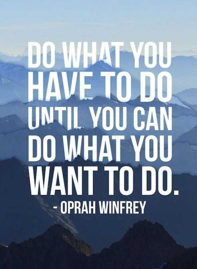 Motivational Quotes Today Do What You Have To Do What You Want