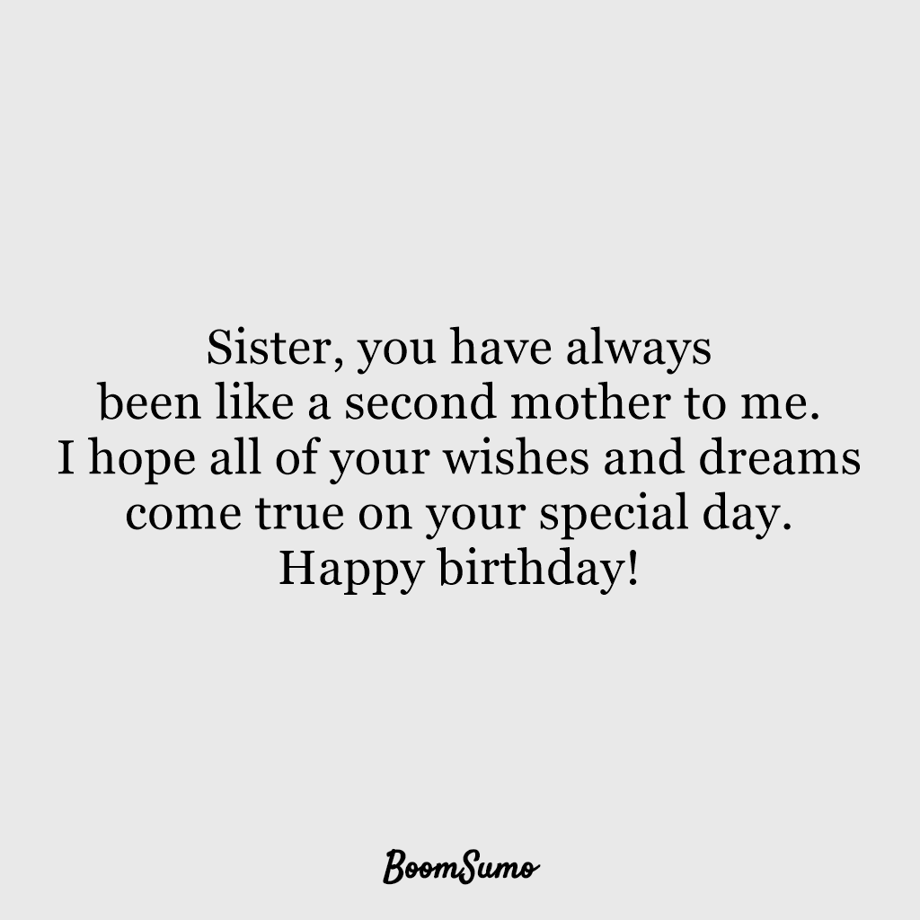 110 Best Happy Birthday Sister Quotes Wishes Boom Sumo