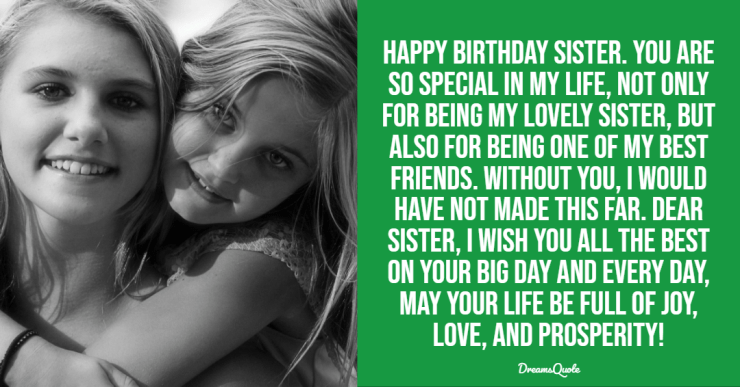 110 Best Happy Birthday Sister Quotes Wishes