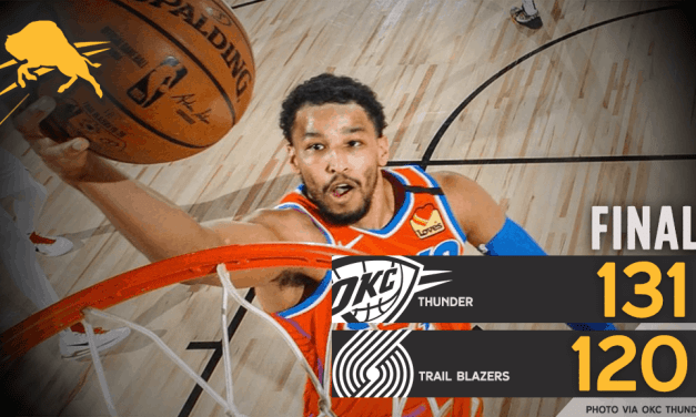Thunder Beat Trail Blazers 131-120, Finish 3-0 In Orlando Scrimmage Play