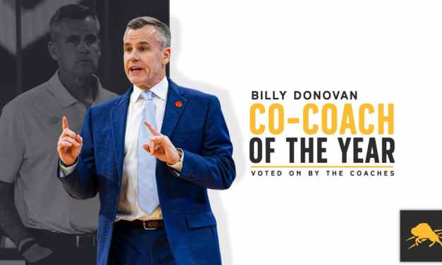 """Billy Donovan Named Co-Winner of NBA Coaches Association """"Coach of the Year"""" Award"""