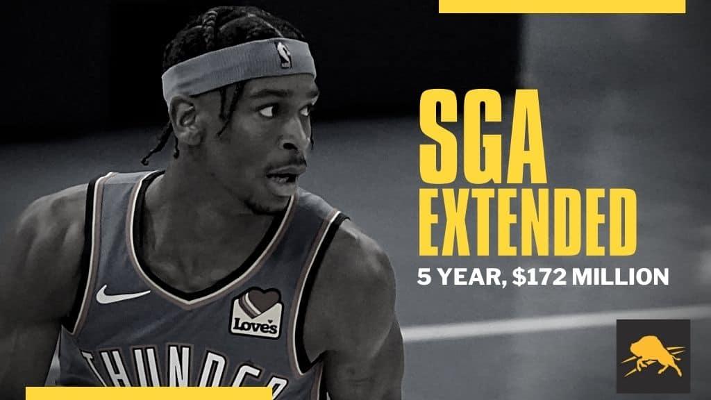 SGA INKS MAX ROOKIE EXTENSION (5 YR/$172M)