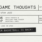 Thunder Drop Season Opener to the Utah Jazz | 107-86