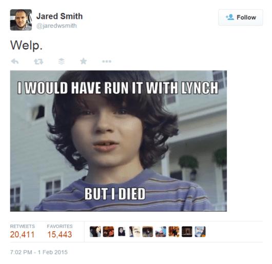 BoomTown Jared Smith Super Bowl Meme