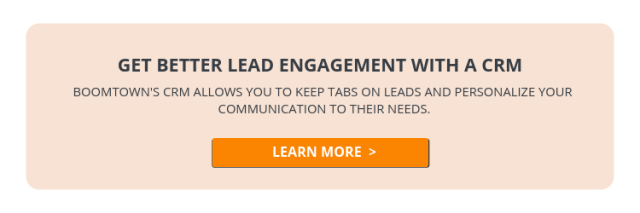 BoomTown Real Estate CRM Lead Engagement