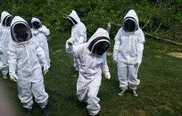 Our awesome Keeper Crew in Bee Suits