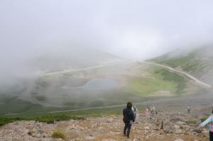 富士見岳登山道から畳平