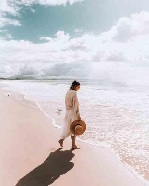 Mel Vandersluis on the beach