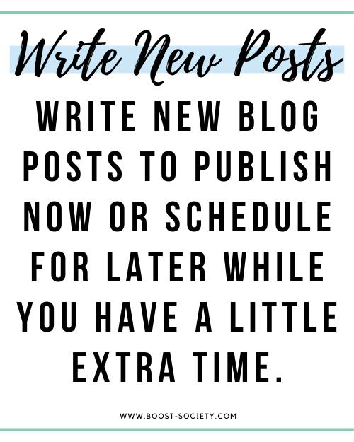 Write new blog posts