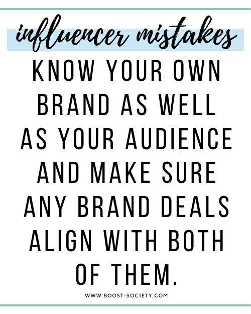 Know your own brand so you know if other brands align with it