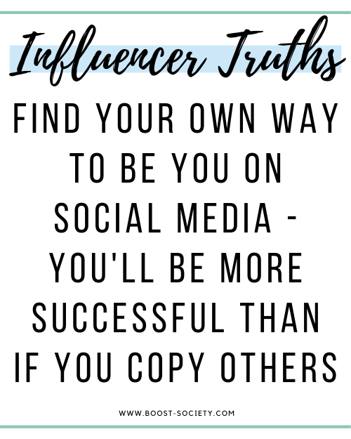 How to become an influencer: find a way to be yourself instead of copy what everyone else is doing