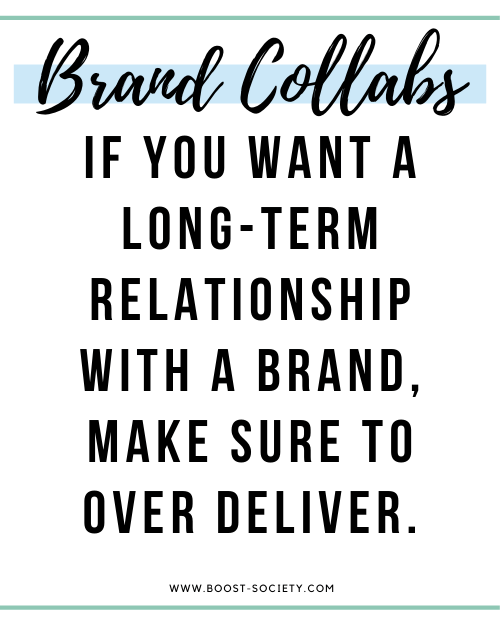 For a long-term relationship with a brand, make sure to over deliver