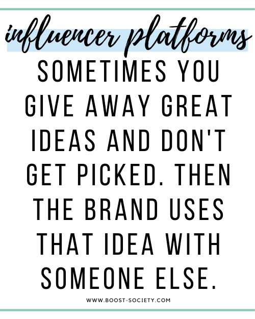 Sometimes you give away great ideas and don't get picked. Then the brand uses that idea with someone else.