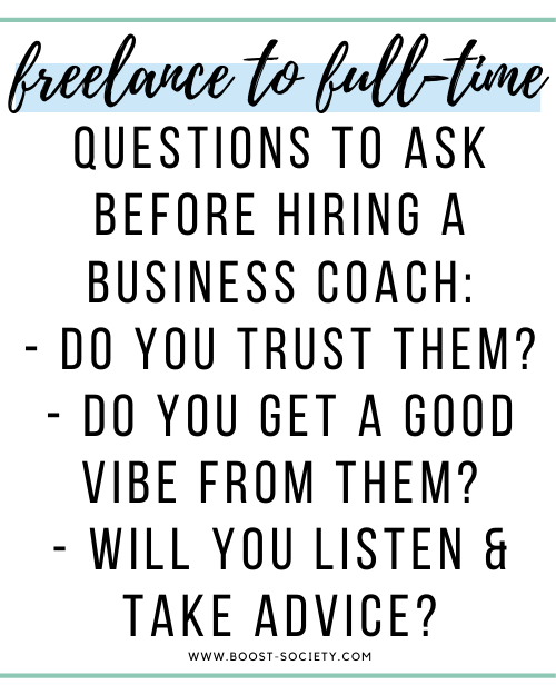 Questions to ask before hiring a business coach