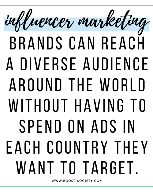 Brand can reach a diverse audience around the world without having to spend on ads in each country they want to target.