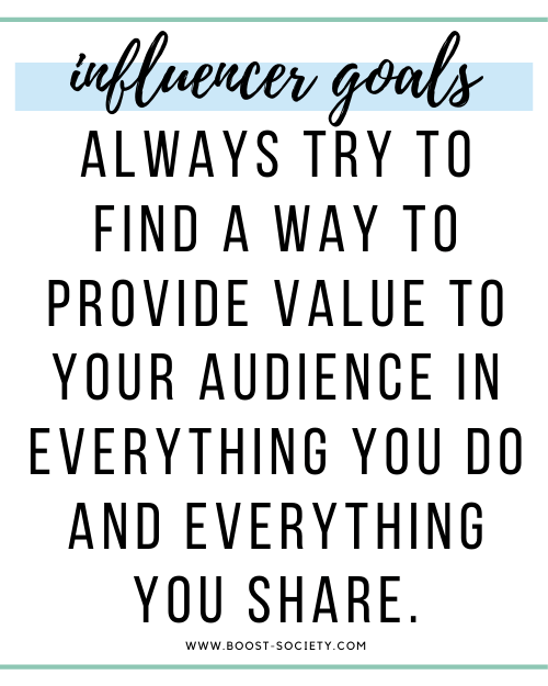 Always try to find a way to provide value to your audience in everything you do and everything you share.