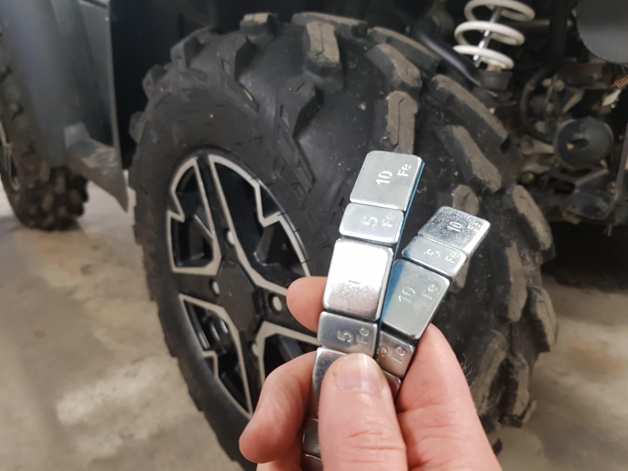 you balance atv tires