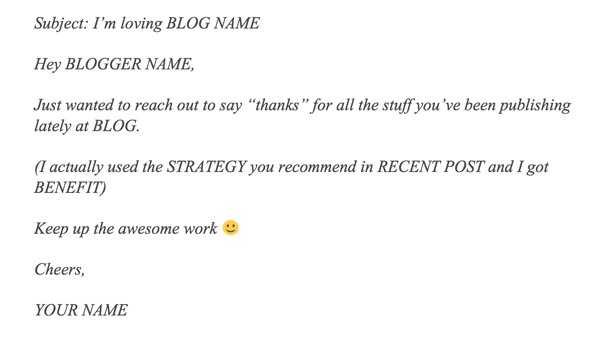 email influencer script