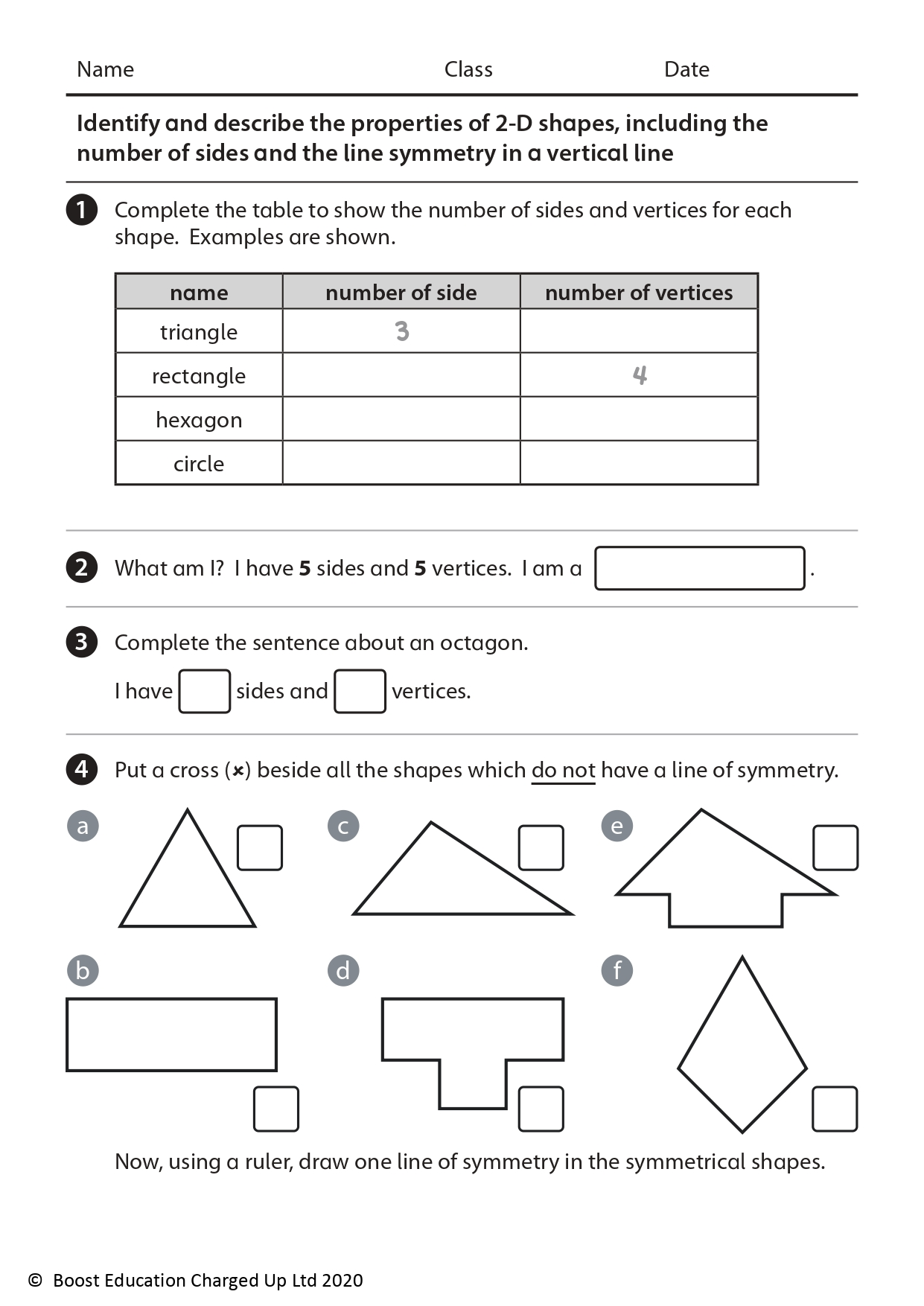 Free Downloadable Worksheets