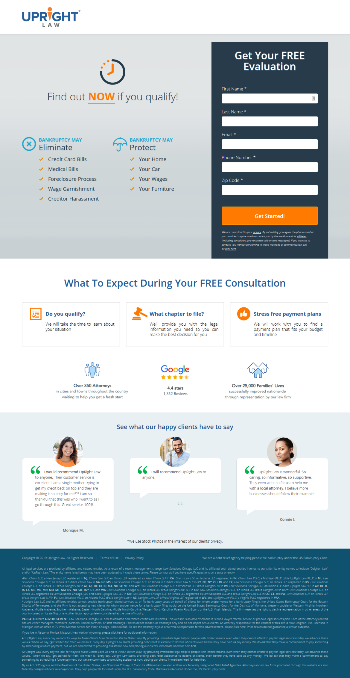 Best landing Page for lawyers