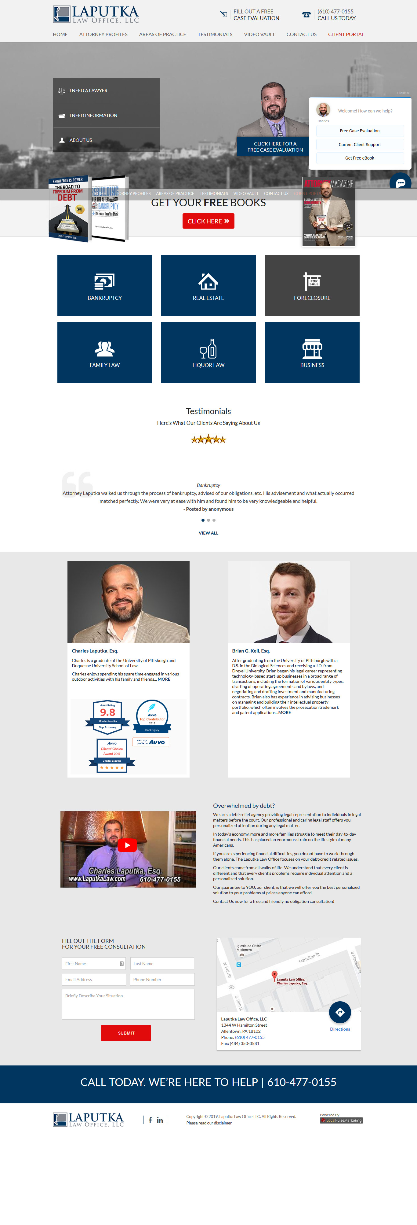 Bad landing page for legal departments
