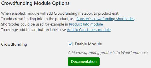 WooCommerce Crowdfunding - Admin Settings