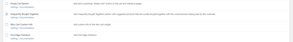Enable frequently bought together product module