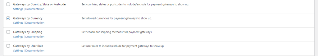 Payment Gateways by Currency module