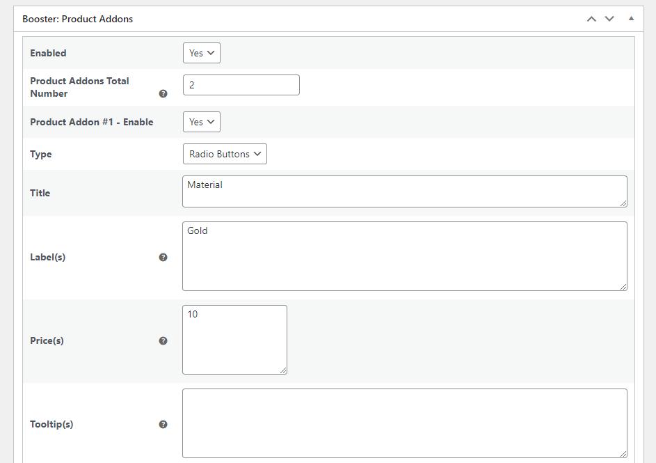 Free and paid add-ons meta box