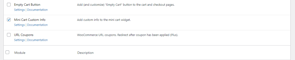 WooCommerce Mini Cart Custom Info module