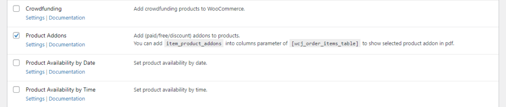 WooCommerce Product Addons module