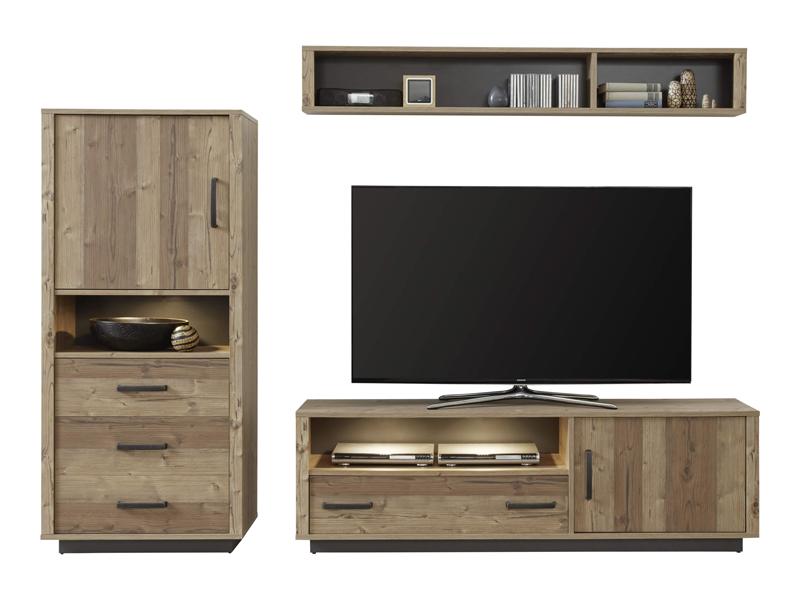 lodge meuble tv mural industriel