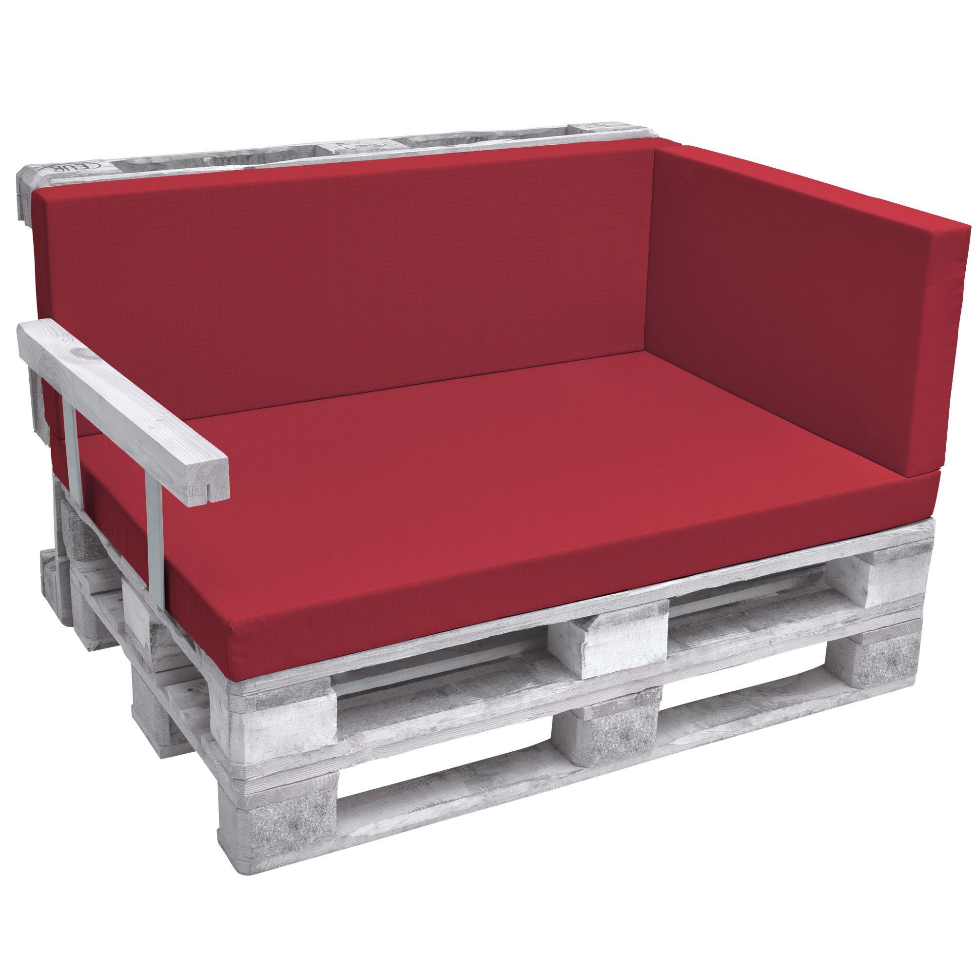 beautissu eco pure coussins a palette 70x40x8cm rouge canape exterieur euro palette accoudoirs