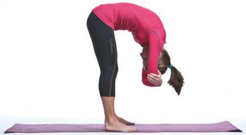 Fists Forward Bend Yoga