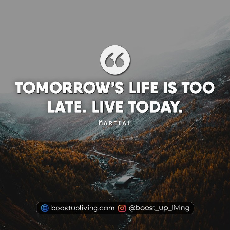 Best Quotes About Life By Live today - Martial